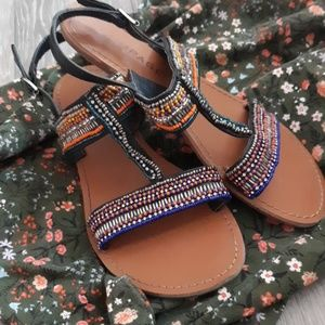 Rampage Beaded Sandals